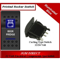 'BEER FRIDGE' SWITCH ILLUMINATED BLUE