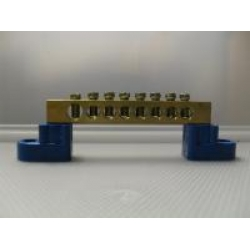 8 HOLE BUSS BAR  NEUTRAL LINK BLUE