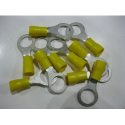 YELLOW RING TERMINAL 10MM  X 10 PCS