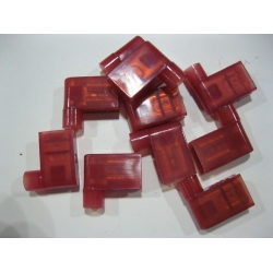 RIGHT ANGLE SPADE TERMINAL: RED FLAG X 10 PCS