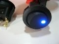 ROUND ROCKER SWITCH - ILLUMINATED BLUE