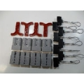 50 AMP ANDERSON TYPE PLUGS 8 PCS WITH 'T' HANDLES AND DUST COVERS