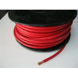 8 B&S. SINGLE CORE TINNED CABLE         RED      PER METER