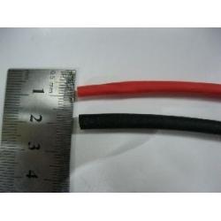 4MM HEAT SHRINK  --- 1 METRE BLACK + 1 METRE RED