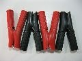 ALLIGATOR CLAMPS 2 Pairs  20 Amp  75mm Fully Insulated