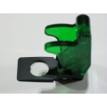 TOGGLE SWITCH SAFETY COVER: TRANSPARENT GREEN