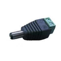 DC CONNECTOR: 2.1MM MALE PLUG