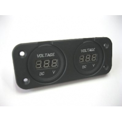 VOLT METER + VOLT METER PANEL MOUNT WITH FACE PLATE