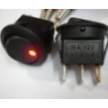 ROUND ROCKER SWITCH- ILLUMINATED RED