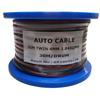 4MM TWIN CORE TINNED CABLE 30 METRE ROLL