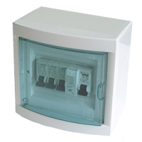 DIN RAIL SURFACE MOUNT ENCLOSURE/HOUSING 5-6 POSITION