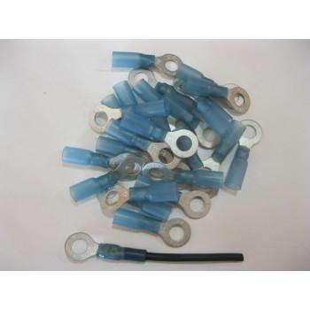 6MM BLUE RING TERMINAL HS 25PCS