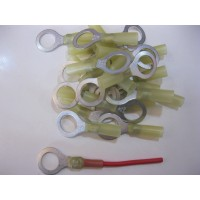 12MM YELLOW RING TERMINALS HS 10PCS
