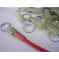 10MM YELLOW RING TERMINALS HS 10PCS