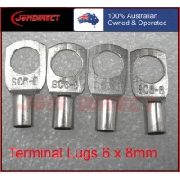 6 SQMM X 8MM RING CABLE LUG