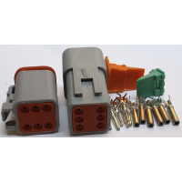 DEUTSCH TYPE CONNECTORS: 6 PIN PAIR
