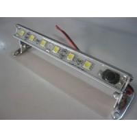 LED ALUMINIUM STRIP LIGHT  120MM. 1.9 WATTS WITH SWITCH & SWIVEL MOUNT