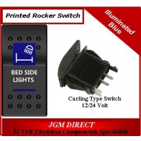 'BED SIDE LIGHTS' SWITCH ILLUMINATED BLUE