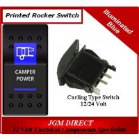 'CAMPER POWER' SWITCH ILLUMINATED BLUE