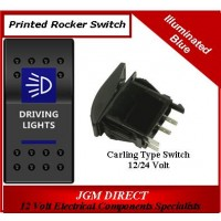 'DRIVING LIGHTS' SWITCH ILLUMINATED BLUE