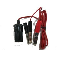 12 VOLT POWER LEAD:  ALLIGATOR CLAMPS TO FEMALE CIG SOCKET