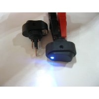 OVAL ROCKER SWITCH 12 VOLT  ILLUMINATED BLUE