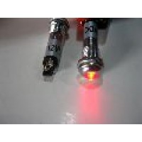 METAL INDICATOR LIGHT: RED
