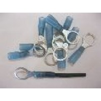 10MM  BLUE RING TERMINAL HS 25PCS