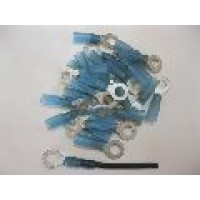 6MM BLUE RING TERMINAL HS 25PCS