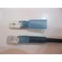 HS BLUE MALE SPADE 6.3MM 25 PCS