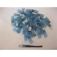HS BLUE MALE SPADE.  6.3MM 50PCS