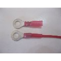 6MM RED RING TERMINAL HS 10PCS