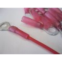 6MM RED RING TERMINALS HS 25PCS