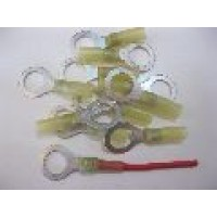 12MM YELLOW RING TERMINALS HS 25PCS