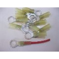 10MM YELLOW RING TERMINALS HS 25PCS
