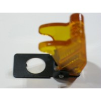 TOGGLE SWITCH SAFETY COVER: TRANSPARENT YELLOW