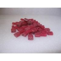 NYLON RED FEMALE SPADE TERMINAL 25 PCS