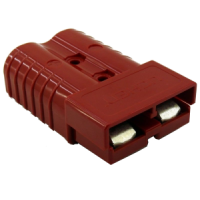 50 AMP RED ANDERSON TYPE PLUG WITH CONTACTS