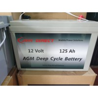 JGM 125Ah AGM Deep Cycle Battery
